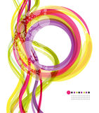 Farbiger Ring und vertikale Welle Lizenzfreies Stockbild