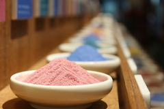 Farbiger Sand Stockfotos
