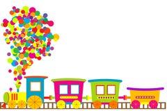 Farbiger Spielzeugzug lizenzfreie abbildung