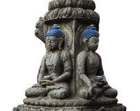 Farbiger Stein-Buddha lokalisierte Stockfotos