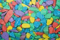 Farbiger Steinhintergrund Stockfoto
