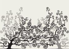 Farbiger stilisierter Baum Stockfotos