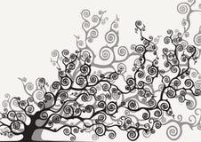 Farbiger stilisierter Baum Lizenzfreies Stockfoto