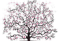 Farbiger stilisierter Baum Lizenzfreie Stockfotografie