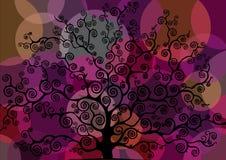 Farbiger stilisierter Baum Stockbilder