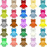 Farbiger Teddy Bear stock abbildung