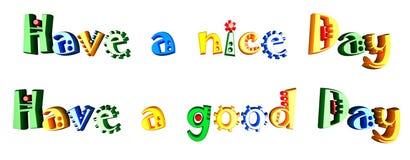 Farbiger Text 3d idolated auf weißem Hintergrund Stockfoto
