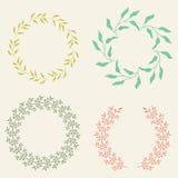 Farbiger Vektor Laurel Wreaths Lizenzfreie Stockbilder