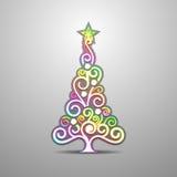 Farbiger Weihnachtsbaum Vektor Lizenzfreie Stockfotografie