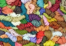 Farbiger Wollehintergrund Stockfotografie