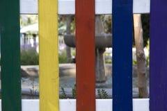 Farbiger Zaun Lizenzfreies Stockfoto