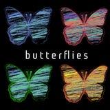 Farbiger zeichnender Schmetterling Stockbild