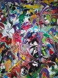 Farbiges abstraktes Acrylsegeltuch stockbilder