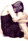 Farbiges abstraktes Portrait der schönen Frau Stockfoto