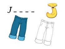 Farbiges Alphabet - J Lizenzfreie Stockbilder