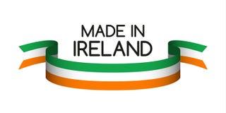 Farbiges Band mit der irischen Trikolore, hergestellt in Irland Lizenzfreie Stockfotos