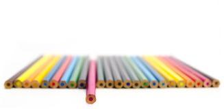 Farbiges Bleistiftisolat Stockbilder
