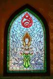 Farbiges Buntglasfenster Lizenzfreie Stockbilder