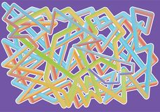 Farbiges Design des Rohrs 3D vektor abbildung