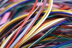 Farbiges elektrisches Kabel Stockbilder
