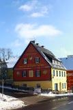 Farbiges Feiertagshaus Erholungsort Altenberg Stockfoto