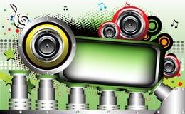 Farbiges Feld mit Lautsprechern Lizenzfreie Stockbilder