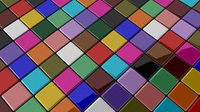 Farbiges Fliehenmosaik mit rundem Schatten Stockfotografie