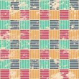 Farbiges gesponnenes nahtloses Muster mit Schmutzeffekt Lizenzfreie Stockbilder