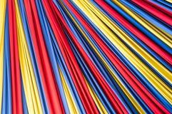 Farbiges Gewebe auf Hintergrund Stockbild