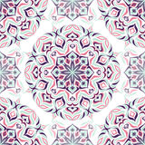 Farbiges helles Muster mit vegetativen Elementen Lizenzfreies Stockbild