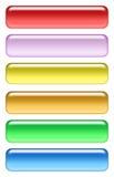 Farbiges Ikonenset Stockbild
