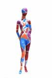 Farbiges Mannequin Stockfoto