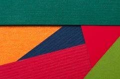 Farbiges materielles Design der Pappkarten Stockfoto