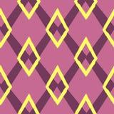 Farbiges nahtloses geometrisches Muster Verzierung des Wiederholens von Rauten stock abbildung