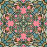 Farbiges nahtloses Muster Blumenverzierung des hohen Details Auch im corel abgehobenen Betrag Lizenzfreie Stockfotos
