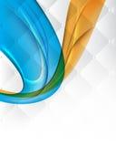 Farbiges nahtloses Muster der abstrakten Wellenelemente Lizenzfreies Stockfoto