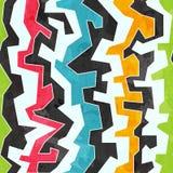 Farbiges nahtloses Muster der Graffiti mit Schmutzeffekt Lizenzfreie Stockfotografie