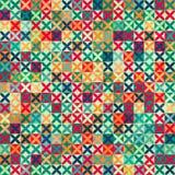 Farbiges nahtloses Muster der Kreuze mit Schmutzeffekt Lizenzfreie Stockfotografie