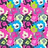 Farbiges nahtloses Muster der schönen Rosenvektor-Illustration Lizenzfreie Stockbilder