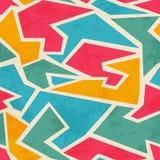 Farbiges nahtloses Muster des Mosaiks mit Schmutzeffekt Lizenzfreies Stockbild