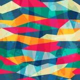 Farbiges nahtloses Muster des Mosaiks mit Schmutzeffekt Lizenzfreies Stockfoto