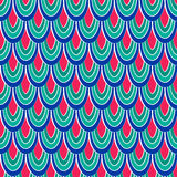 Farbiges nahtloses Muster des Vektors mit abstrakten Federn Lizenzfreie Stockbilder