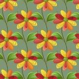 Farbiges nahtloses Muster mit Blumenmotiven Stockfotografie