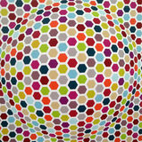 Farbiges nahtloses sechseckiges Muster Lizenzfreies Stockbild
