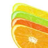 Farbiges orange slince Stockfoto