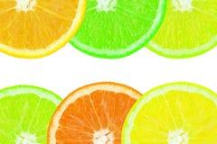 Farbiges orange slince Lizenzfreie Stockfotos