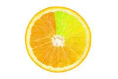 Farbiges orange slince Stockfotografie