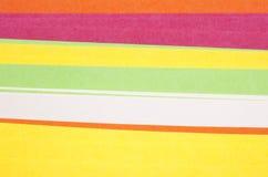 Farbiges Papier Lizenzfreie Stockfotografie