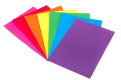 Farbiges Papier Stockfoto