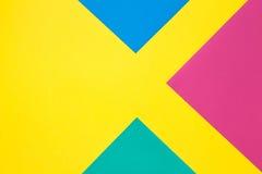 Farbiges Papier in der geometrischen Ebene Lizenzfreies Stockfoto